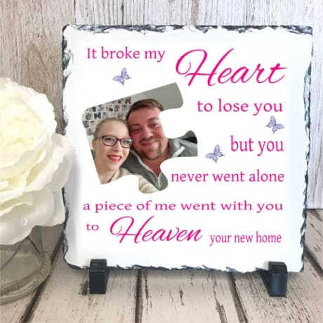 Personalised Slate : It Broke My Heart...