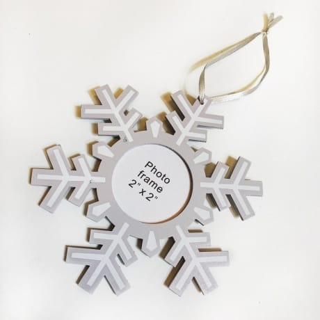 Snow flake (Add Photo) tree decoration