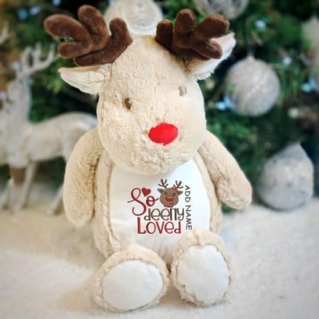 So Deerly Loved Personalised Reindeer