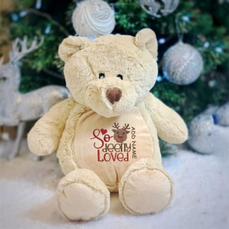 So Deerly Loved Personalised Bear