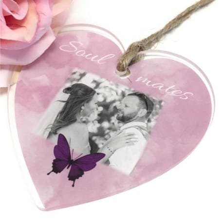 Personalised hanging Heart : Soulmates