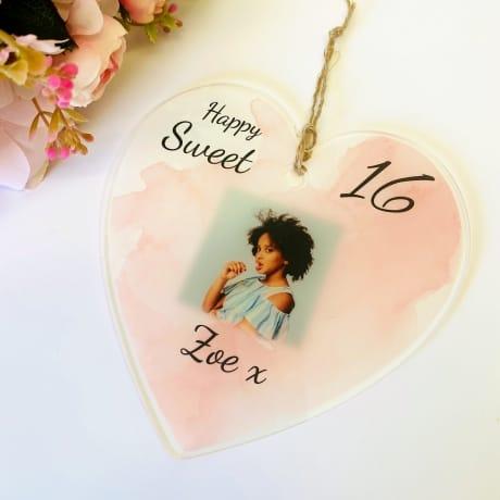 16th Birthday Heart