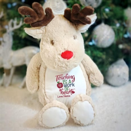 Teacher Personalised Reindeer