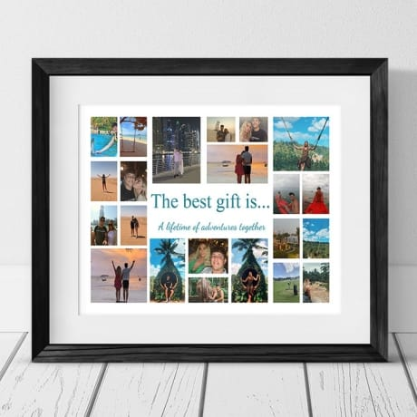 The Best Gift Is... Holiday Photo Collage Frame