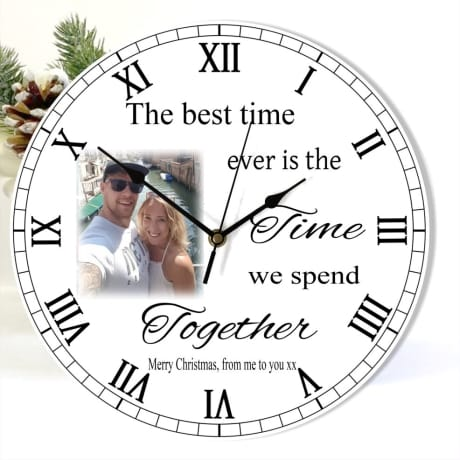 Personalised Christmas clock - The best time ever