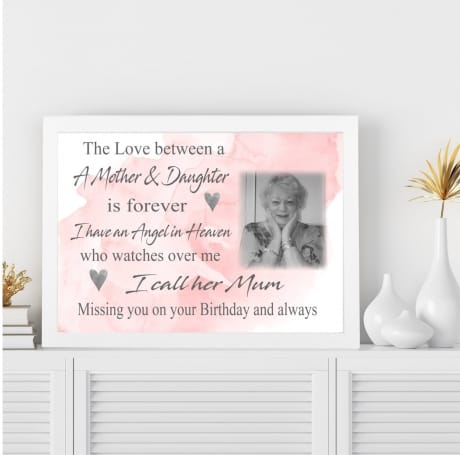 The love between : Birthday Wall Frame