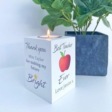 Tealight holder - Teacher Gift