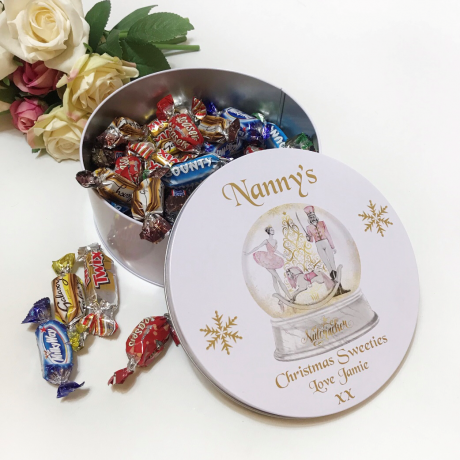 Personalised Christmas Sweet Tin