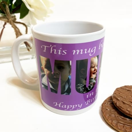 Mummy Photo Letters Mug