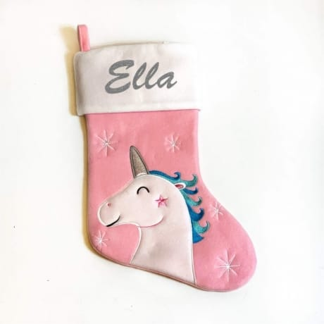 Glitter Name Unicorn stocking