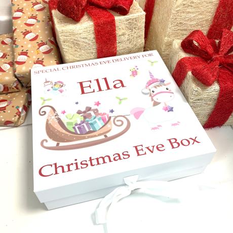 Unicorn Personalised Christmas Eve Box