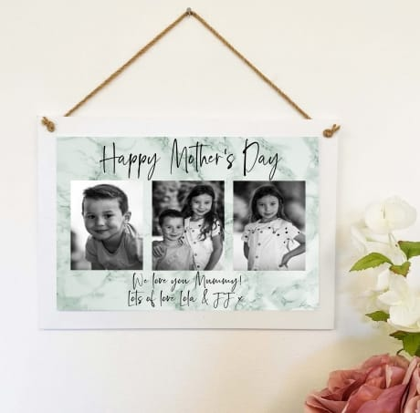 Mother's Day Photo Collage Wall Sign