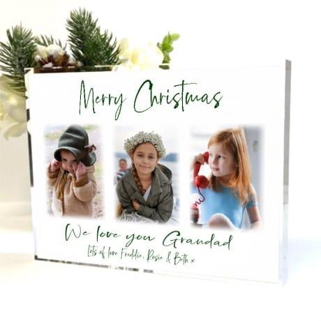 Christmas Photo Block Collage Grandad