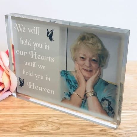 Personalise Remembrance block - We will hold you in our hearts