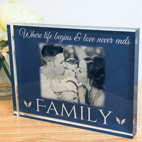 Personalised photo gift -Family where life begins