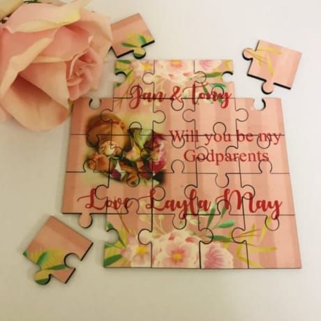 Personalised Jigsaw - Will You Be My Godparents