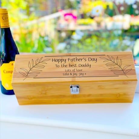 Personalised Wooden Wine Box Design 3