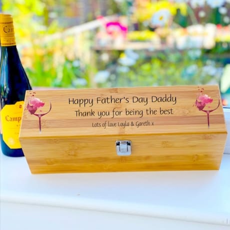 Personalised Wooden Wine Box Design 4