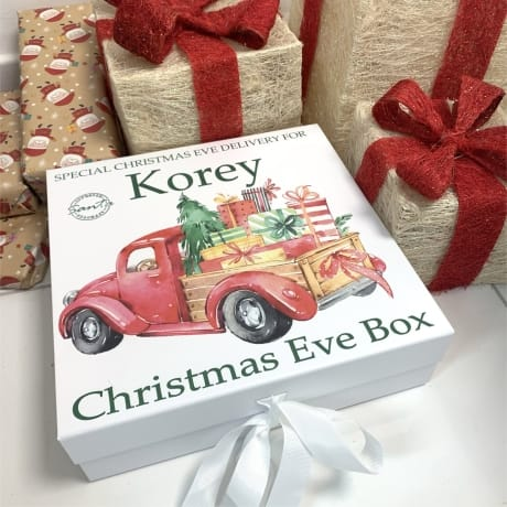 Lorry Personalised Christmas Eve Box