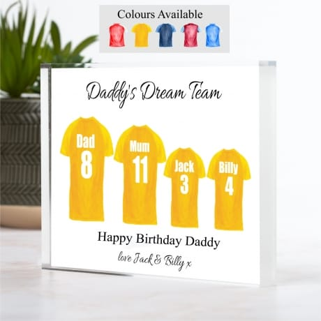 Personalised Family of 4 Football Team