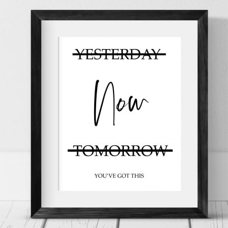 Yesterday, now